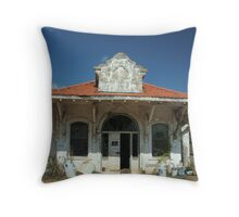Train Station in Wadley, Alabama 1 Throw Pillow
