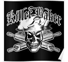 Baker Skull 3: Killer Baker and Crossed Rolling Pins Poster