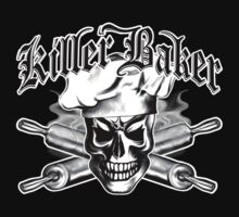 Baker Skull 3: Killer Baker and Crossed Rolling Pins T-Shirt