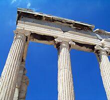 Greek Columns by Peter Walters
