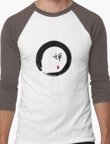 """Zen"" calligraphy & Enso circle of enlightenment Men's Baseball ¾ T-Shirt"