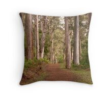Forestry track Throw Pillow