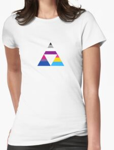 The Invisibility Triforce Womens Fitted T-Shirt