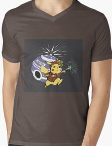 Pikawho!? Mens V-Neck T-Shirt