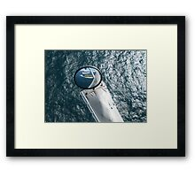 Helicopter Mirror Reflection Framed Print