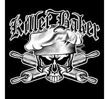 Baker Skull 11: Killer Baker and Crossed Rolling Pins Photographic Print