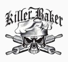 Baker Skull 11: Killer Baker and Crossed Rolling Pins Kids Clothes