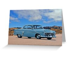 1952 Ford Customline Coupe Greeting Card