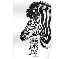 LuCky Stripes Poster