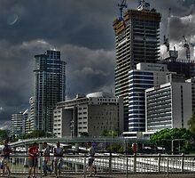 Stormy Brisbane by Tristan Lewis