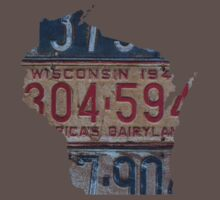 Vintage Wisconsin License Plates Kids Clothes