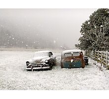 Winter Wrecks Photographic Print