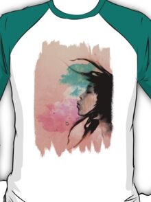 Psychedelic Blow Japanese Girl T-Shirt