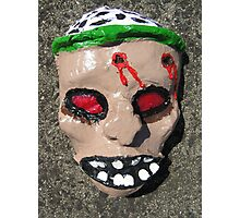 Grotesque Papier Mache Mask Photographic Print