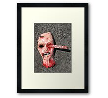 Grotesque Papier Mache Mask Framed Print