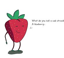 Strawberry humorism against blueberries by millman