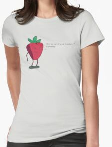 Strawberry humorism against blueberries Womens Fitted T-Shirt