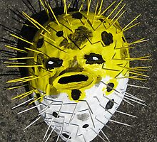 Grotesque Papier Mache Mask by stkevinsart