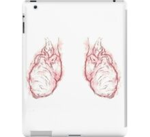 double heart carved  iPad Case/Skin