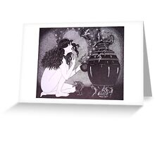 Pandora           (pen & ink on Bainebridge c/press illust board)  Greeting Card