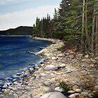 Shore of the Slates Island - Lake Superior near Terrace Bay by loralea