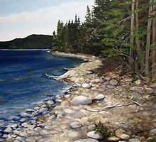 Shore of the Slates Island - Lake Superior near Terrace Bay by loralea