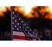 God Bless America - Cedar City, Utah Photographic Print