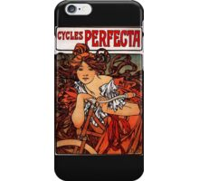'Cycles Perfecta' by Alphonse Mucha (Reproduction) iPhone Case/Skin