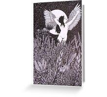 Mondnacht (pen &ink on c/pressed illustration board) Greeting Card