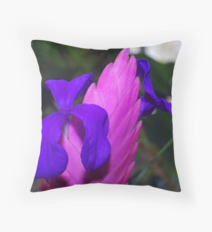 Blooms of Blue Throw Pillow