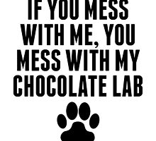 You Mess With My Chocolate Lab by kwg2200