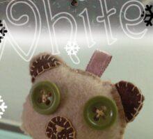 Winter White bear Sticker