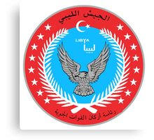 Emblem of the Libyan Air Force  Canvas Print