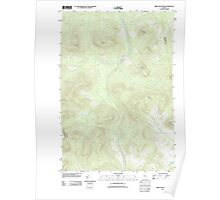 Maine USGS Historical Map Kibby Mountain 20110913 TM Poster