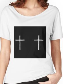 white crosses Women's Relaxed Fit T-Shirt