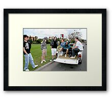 Hanging Out at Newcastle Foreshore by Bernadette Smith  Framed Print
