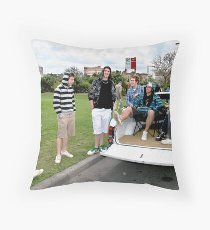 Hanging Out at Newcastle Foreshore by Bernadette Smith  Throw Pillow