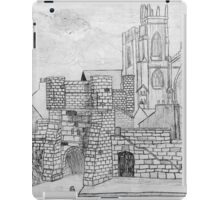 My Pencil Drawing of Bootham Gate and York Minster - all products iPad Case/Skin