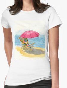 Beach Chair Womens Fitted T-Shirt