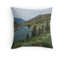 Fraser River Valley Throw Pillow