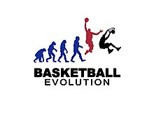 Evolution basket Dunk ! Photographic Print