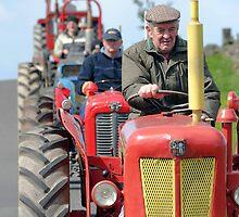 David Brown tractor, vintage tractor run, Cumbria by R. F.  Simpson