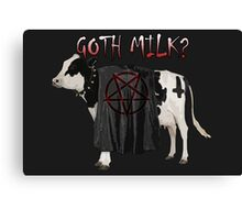Goth Milk? Canvas Print