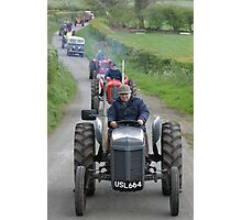 'Fergie' on a vintage tractor run, West Cumbria Photographic Print