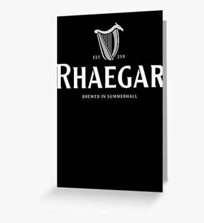Rhaegar Guinness Logo Greeting Card