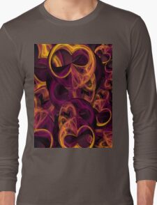 Night Owls in Abstract Long Sleeve T-Shirt