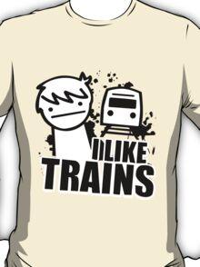 ASDF I LIKE TRAINS VIDEO MOVIE FUNNY T-Shirt