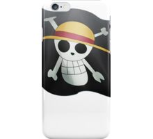 Luffy with the flag iPhone Case/Skin