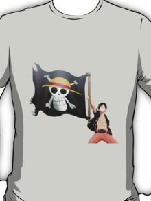 Luffy with the flag T-Shirt