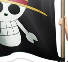 Luffy with the flag Sticker